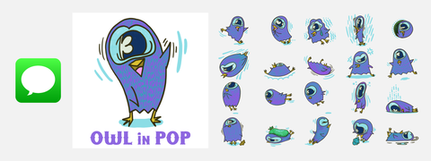 Owl in POP (for iMessage)